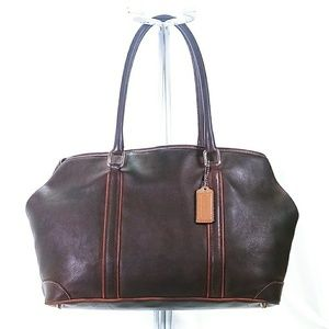 Coach Brown Leather Tote Satchel Bag